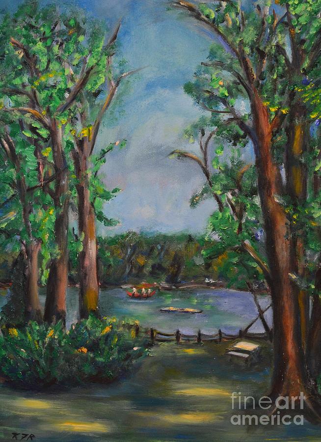Park Painting - Riverbend Park by Karen Francis