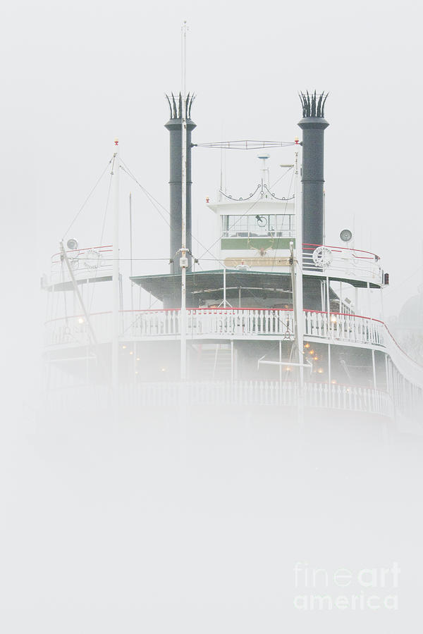 Americana Photograph - Riverboat In The Fog by Jeremy Woodhouse