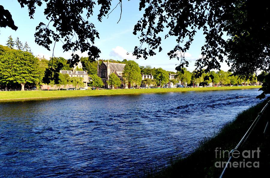 River Digital Art - Riverside by Pravine Chester