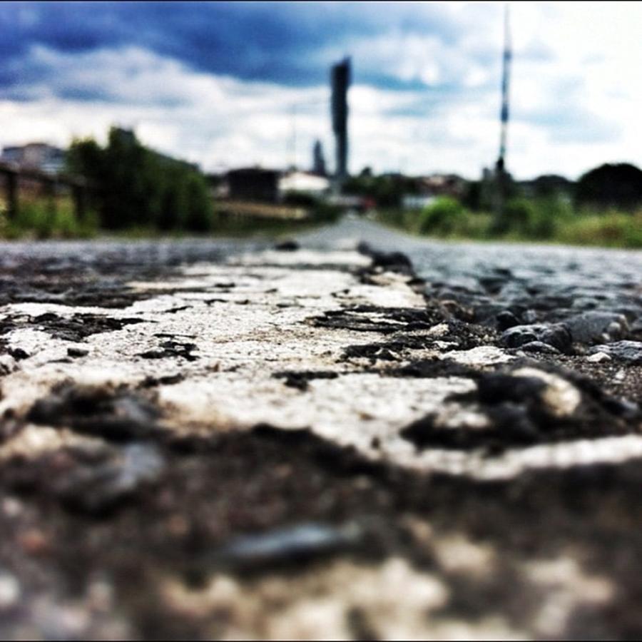 Clouds Photograph - #road #closeup #tarmac #street by Ritchie Garrod