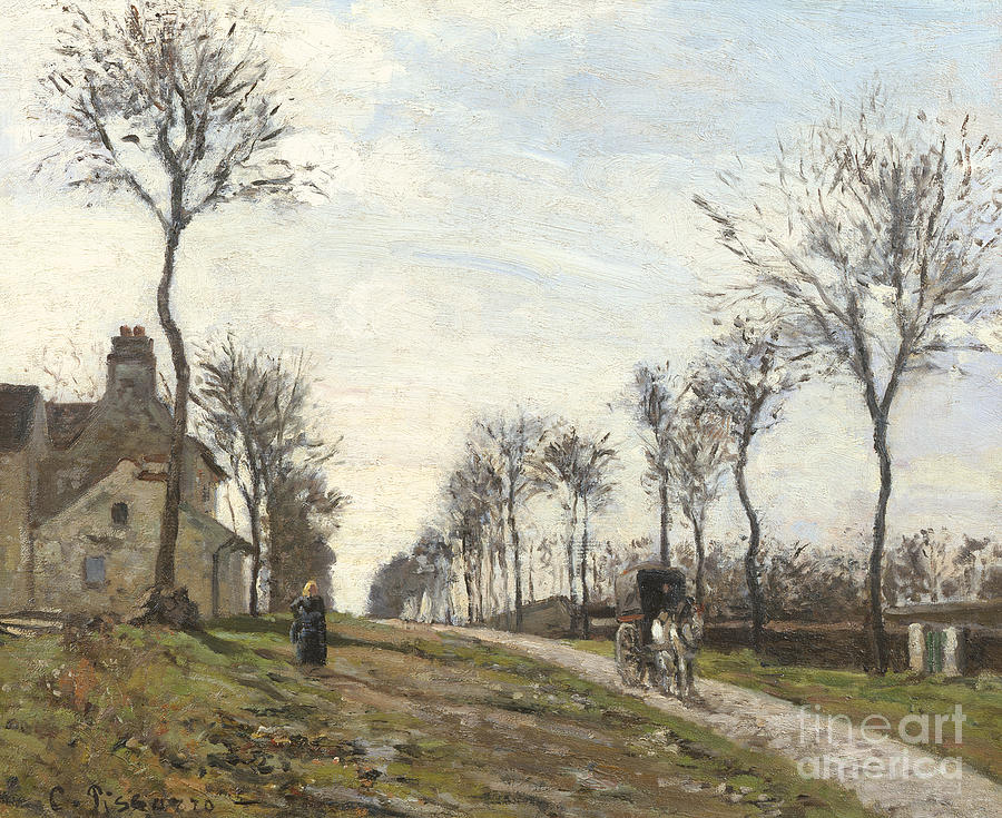 Camille Painting - Road In Louveciennes by Camille Pissarro