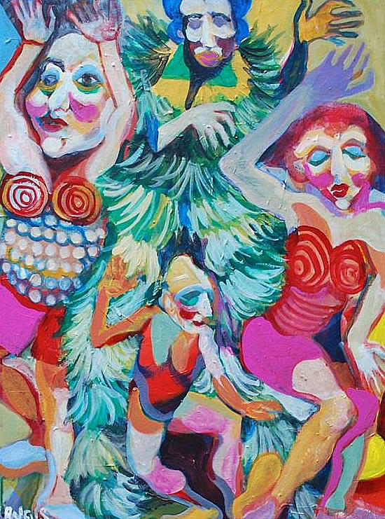 Carnival Painting - Road March 2 by Rufus Norman