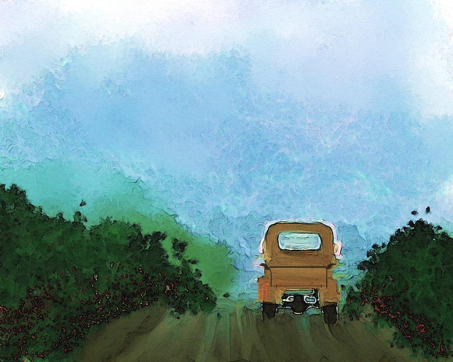 Digital Art Drawing - Road by Mickey Harris