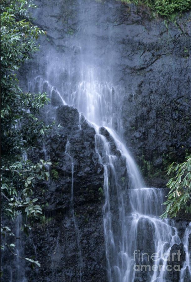 Waterfall Photograph - Road To Hana Waterfall by Sandra Bronstein