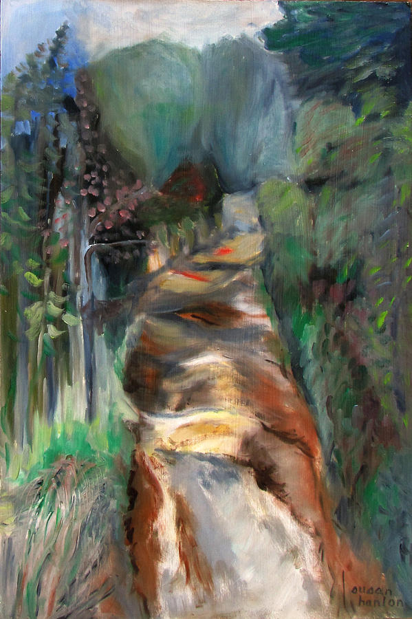 Landscape Painting - Road To Home by Susan Hanlon