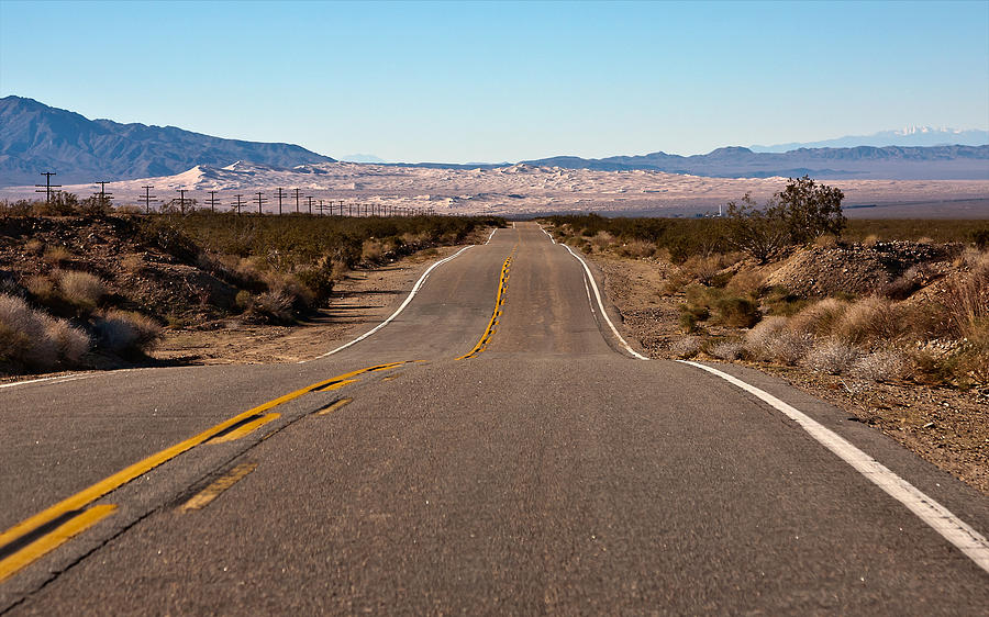 Landscape Photograph - Road To Kelso Dunes by Dennis Hofelich