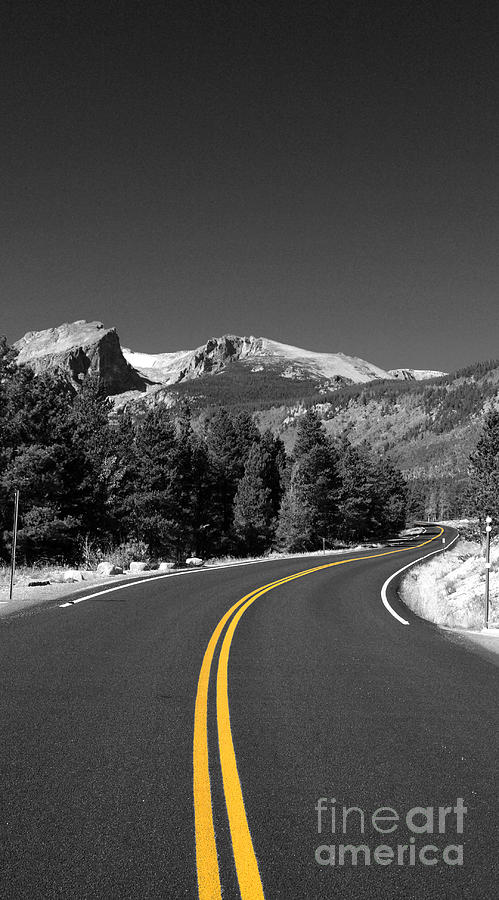 Road Photograph - Road To The Rockies by Holger Ostwald