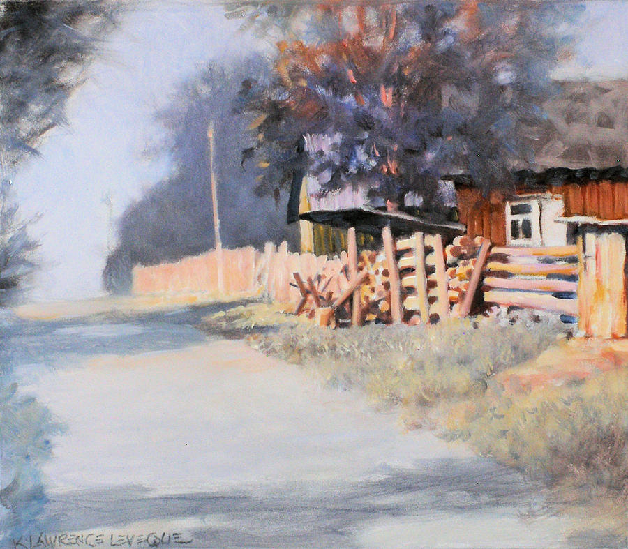 Rural Painting - Roadside by Kevin Lawrence Leveque