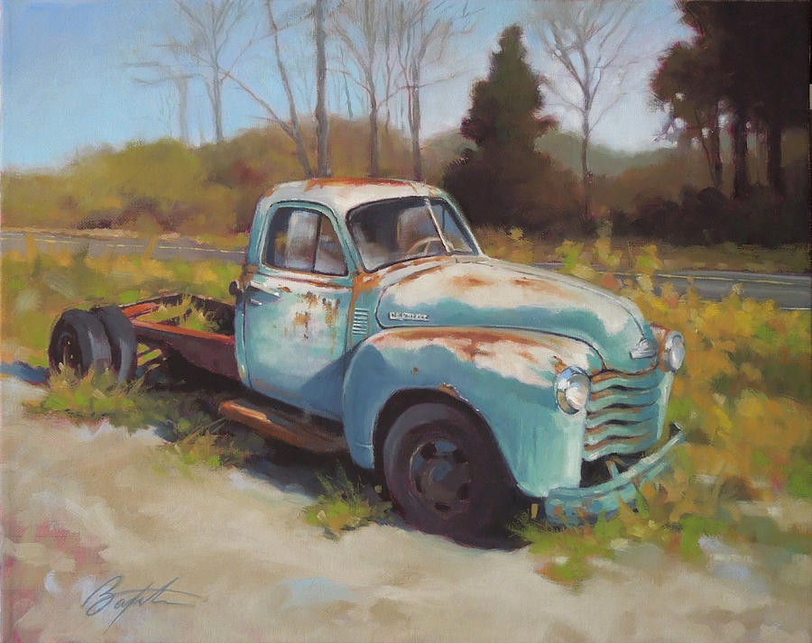 Chevy Painting - Roadside Relic by Todd Baxter