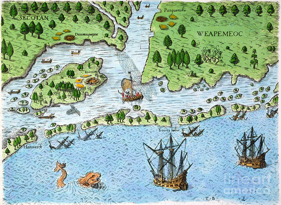 the lost colony of the roanoke island