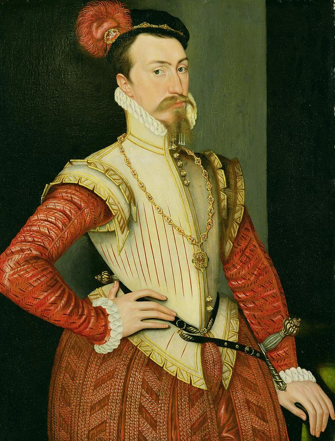Robert Painting - Robert Dudley - 1st Earl Of Leicester by Steven van der Meulen