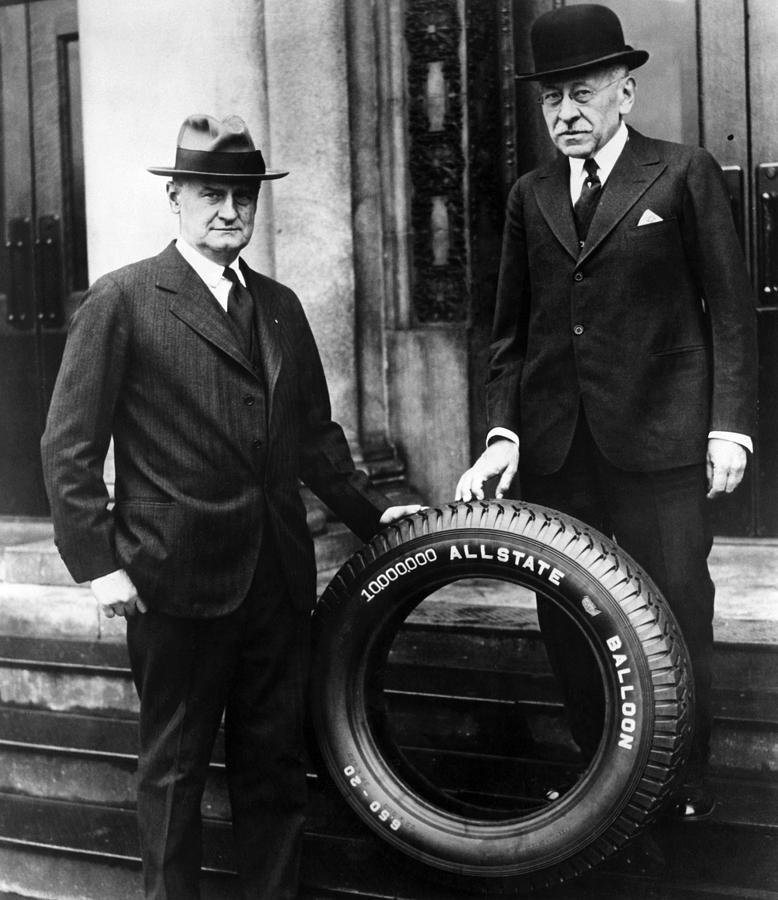 1920s Photograph - Robert E. Wood Left, Julius Rosenwald by Everett