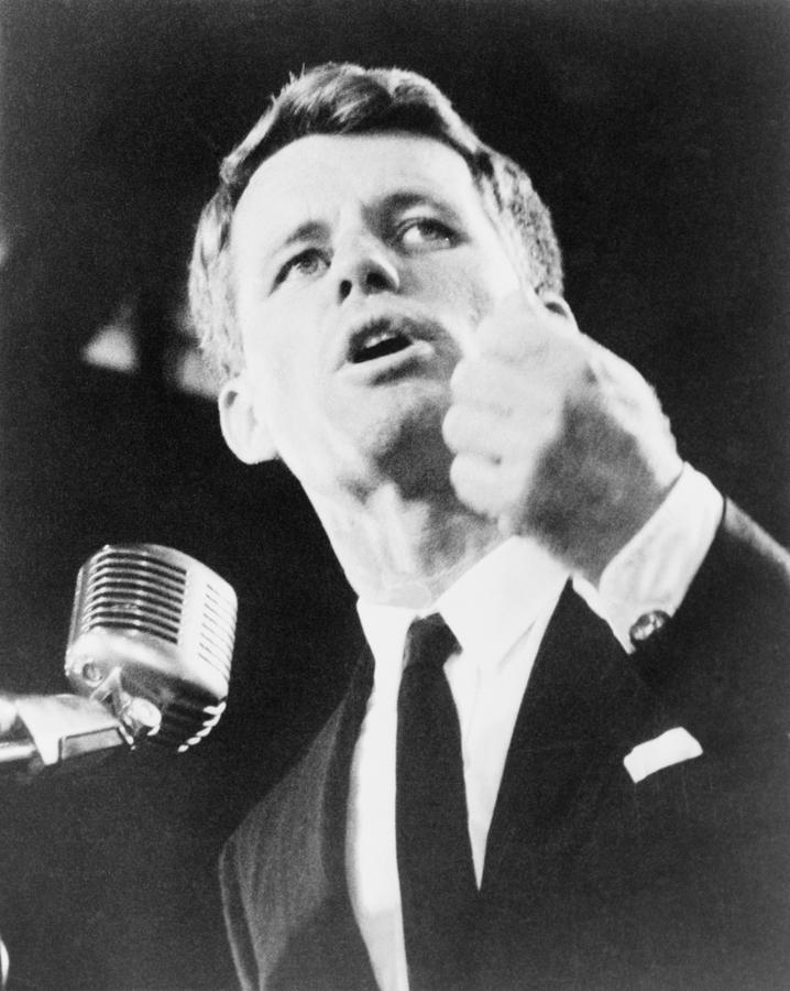 History Photograph - Robert F. Kennedy Making His Acceptance by Everett