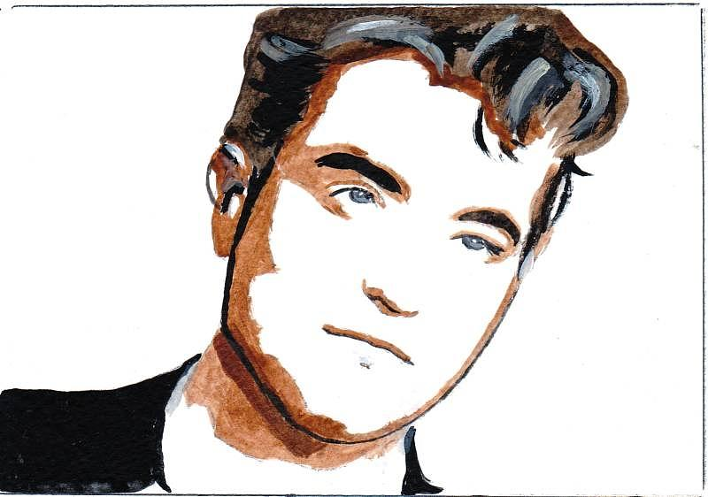 Ro Painting - Robert Pattinson 22 by Audrey Pollitt