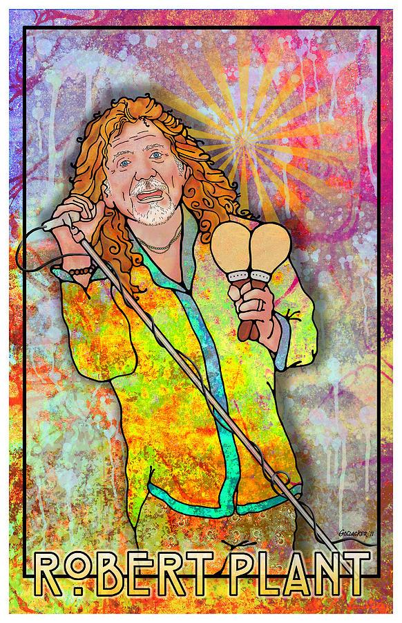 Bowie Digital Art - Robert Plant by John Goldacker