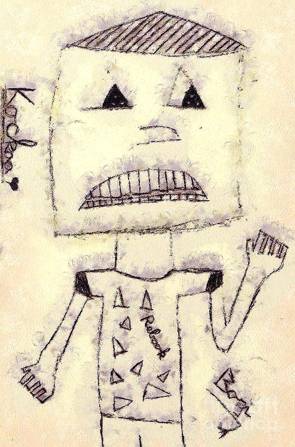 Odon Painting - Robot by Odon Czintos