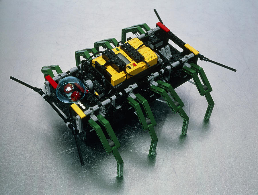 Lego Photograph - Robot Spider Constructed From Lego by Volker Steger