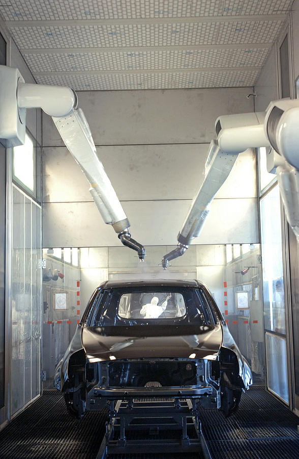 Albea Photograph - Robotic Car Production Line by Ria Novosti
