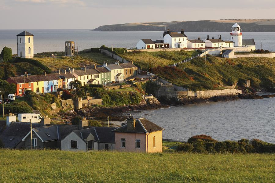 Hill Photograph - Roches Point Lighthouse In Cork Harbour by Trish Punch