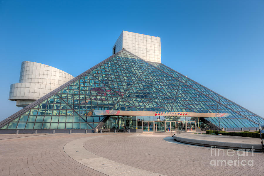 America Photograph - Rock And Roll Hall Of Fame II by Clarence Holmes