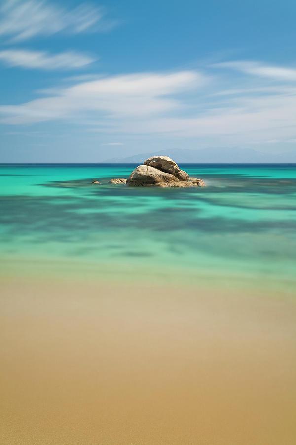 Vertical Photograph - Rock At Paranga Beach by Vasilis Tsikkinis photos
