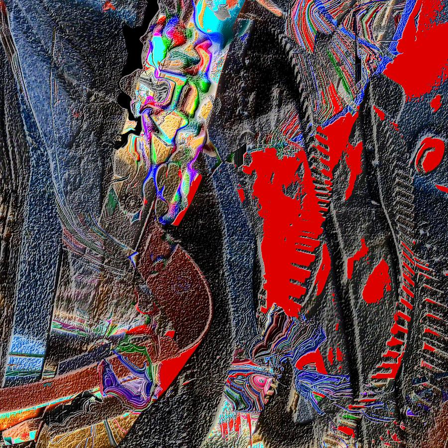 Abstract Digital Art - Rock by Dave Kwinter