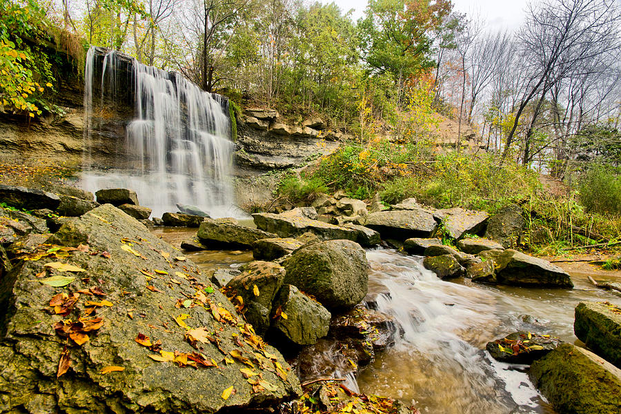 Hdr Photograph - Rock Glen Falls by Cale Best
