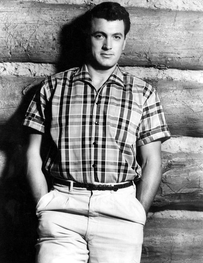 Hands In Pockets Photograph - Rock Hudson, 1950s by Everett