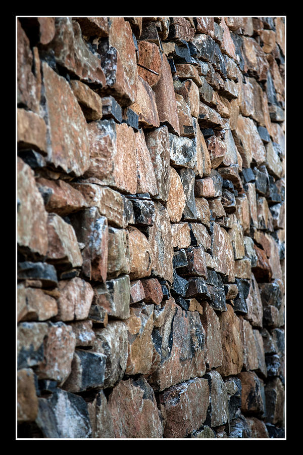 Pattern Photograph - Rock Wall by Miguel Capelo