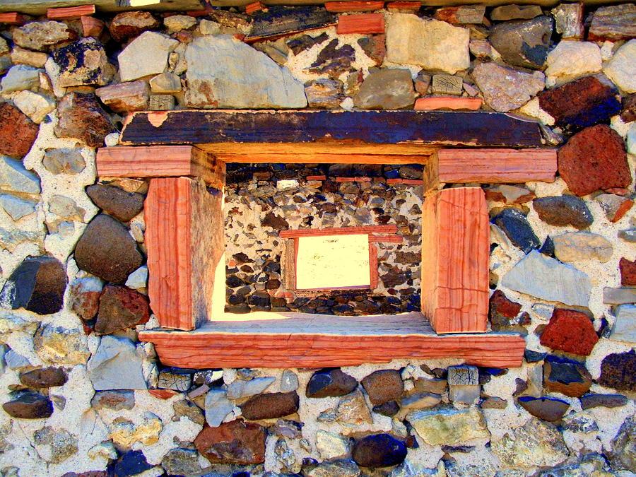 Old West Photograph - Rock Windows by Judy Garrett