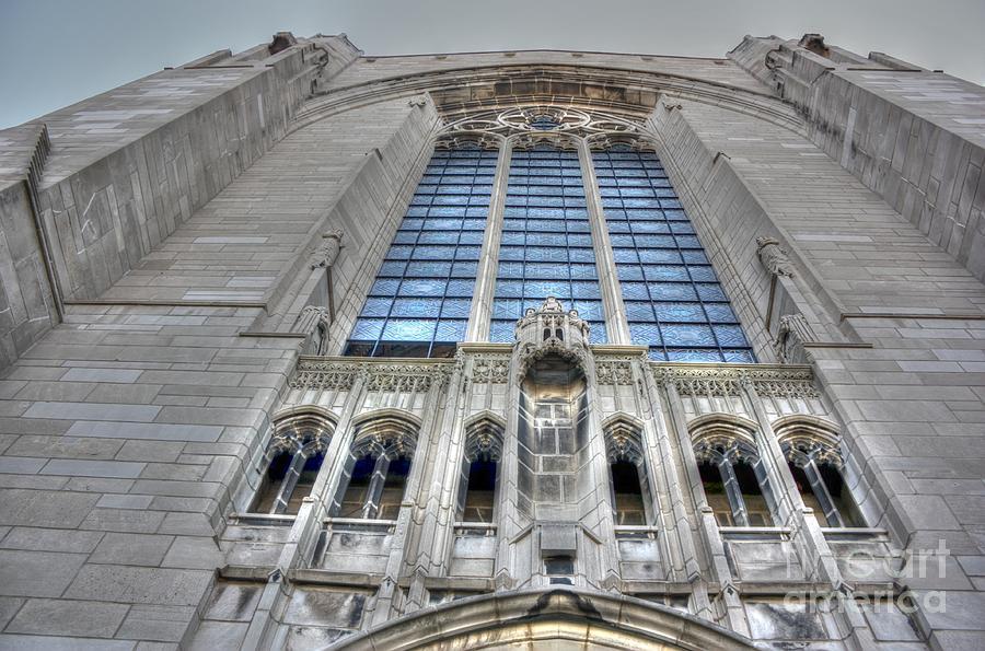 University Of Chicago Photograph - Rockefeller Chapel Entrance by David Bearden