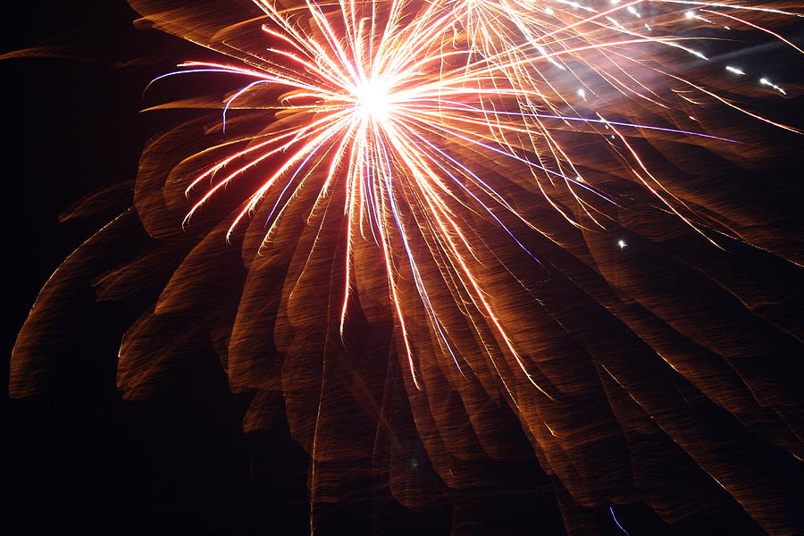 Firework Photograph - Rockets Red Glare by Heidi Yost