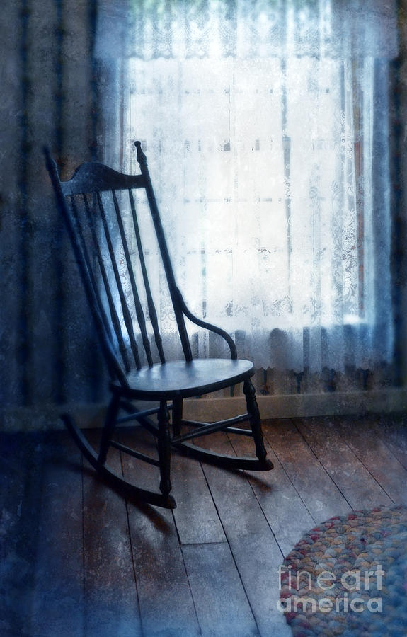 rocking chair by window photograph by jill battaglia