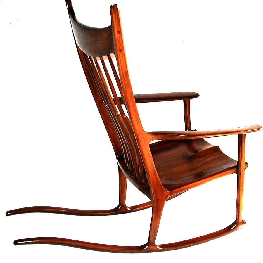 Designer Furniture Sculpture - Rocking Chair Maloof Inspired by Alok Mital