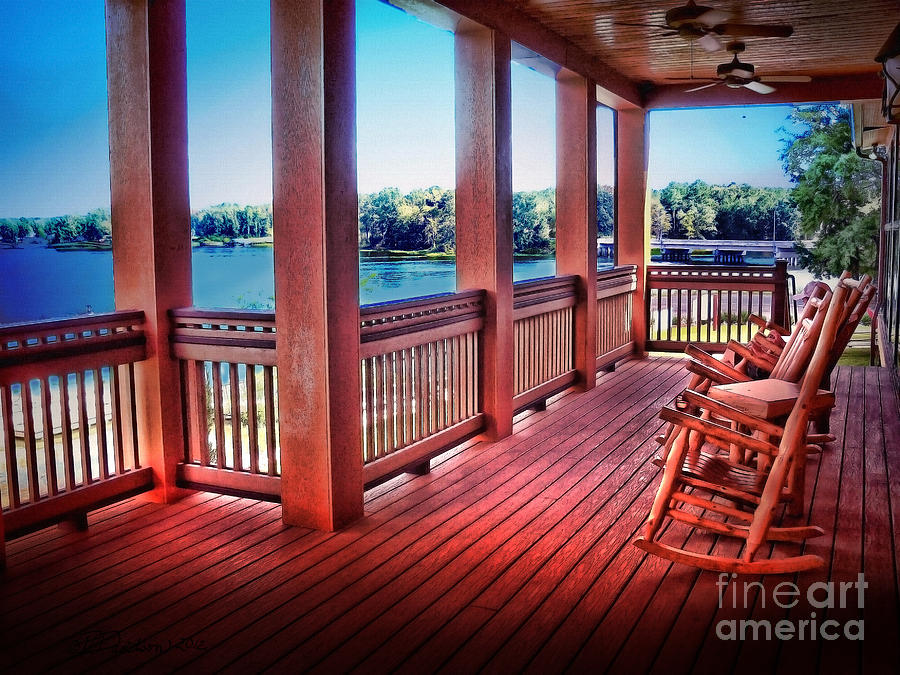 Porch Photograph   Rocking Chair Porch View By Patricia L Davidson