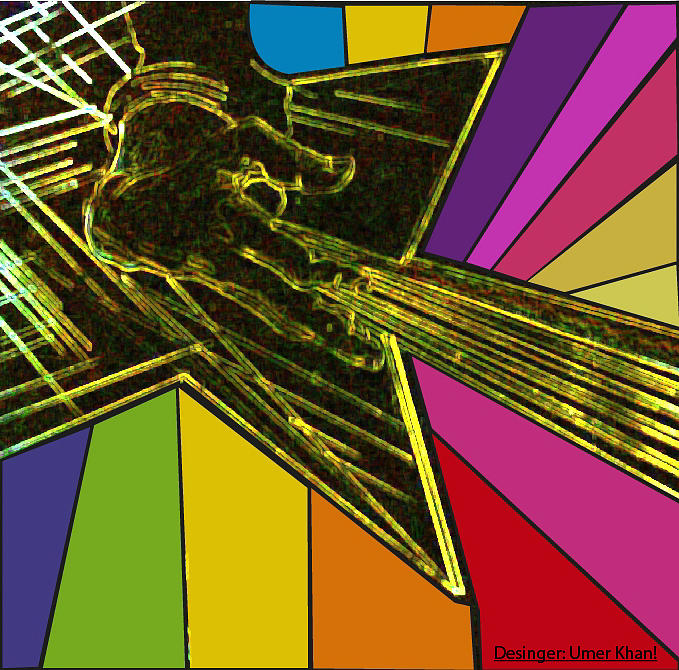 Rock N Roll Digital Art - Rocking Colours by Umer Khan
