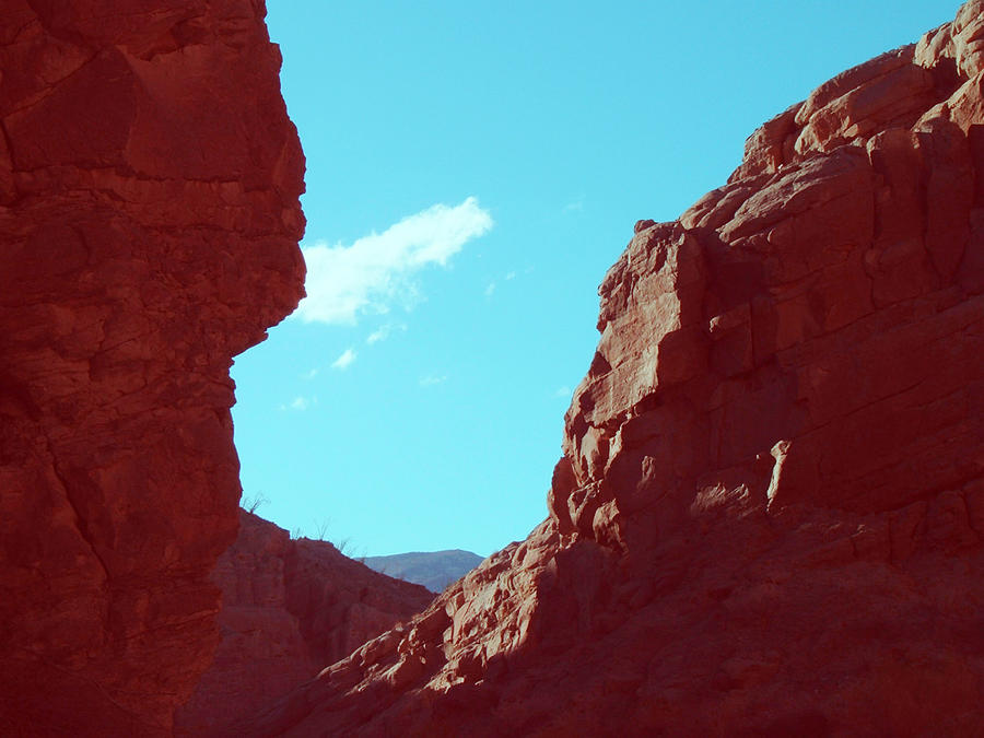 Nature Photograph - Rocks And Sky by Naxart Studio