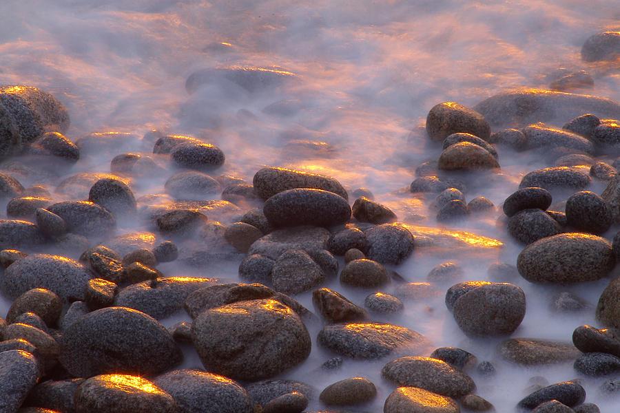Rocks And Surf At Sunset Garrapata Photograph by Sebastian Kennerknecht