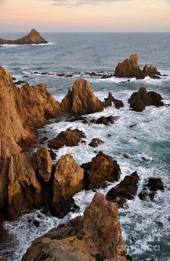 Spanish Photograph - Rocks At Sea In Cabo De Gato  Almeria Spain by Perry Van Munster