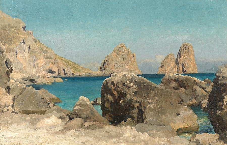 Seas Painting - Rocks Of The Sirens by Frederic Leighton