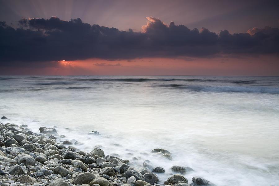 Arabian Sea Photograph - Rocky Beach At Sunrise Hawf Protected by Sebastian Kennerknecht