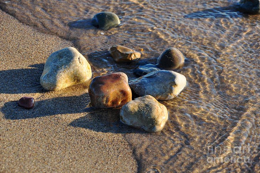Rock Photograph - Rocky Beach  by Ginger Harris