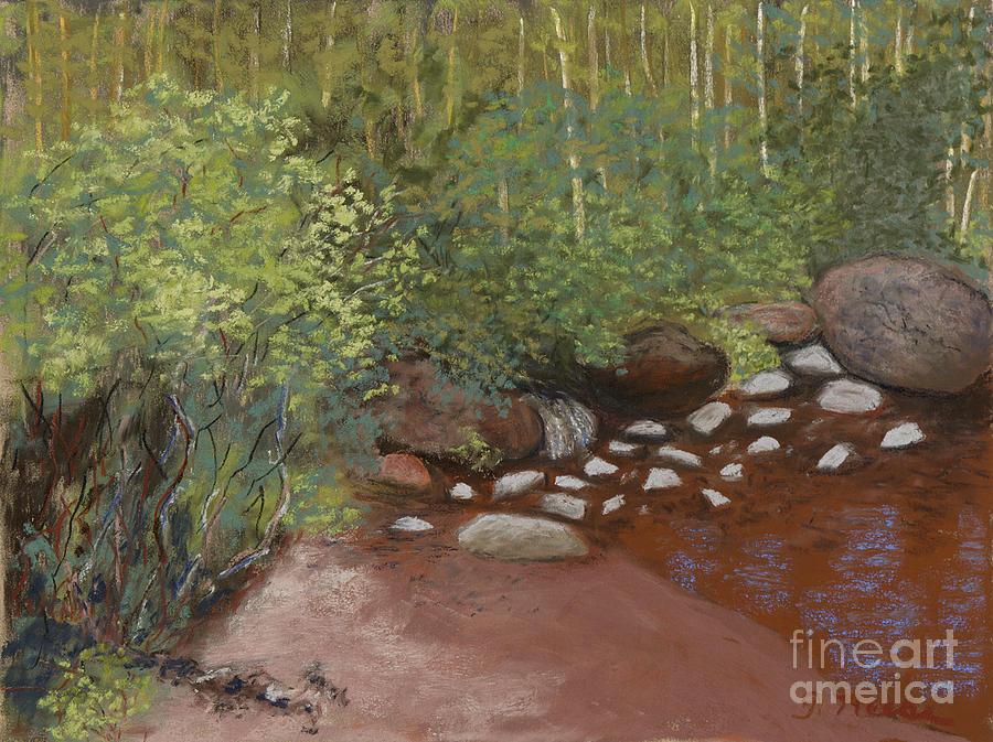 Stream Pastel - Rocky Mountain Creek by Ginny Neece