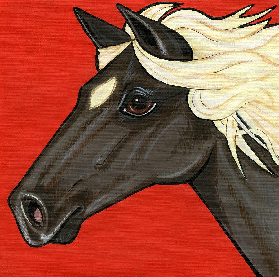 Horse Painting - Rocky Mountain Pony by Leanne Wilkes