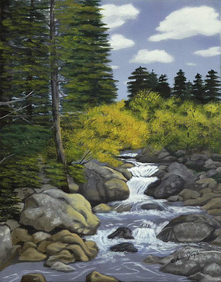 Rocky Mountain Stream Painting By Lana Tyler