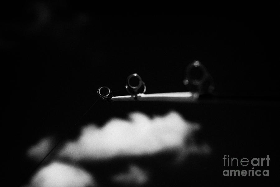Fishing Photograph - Rod And Line Fishing Against Sky by Joe Fox