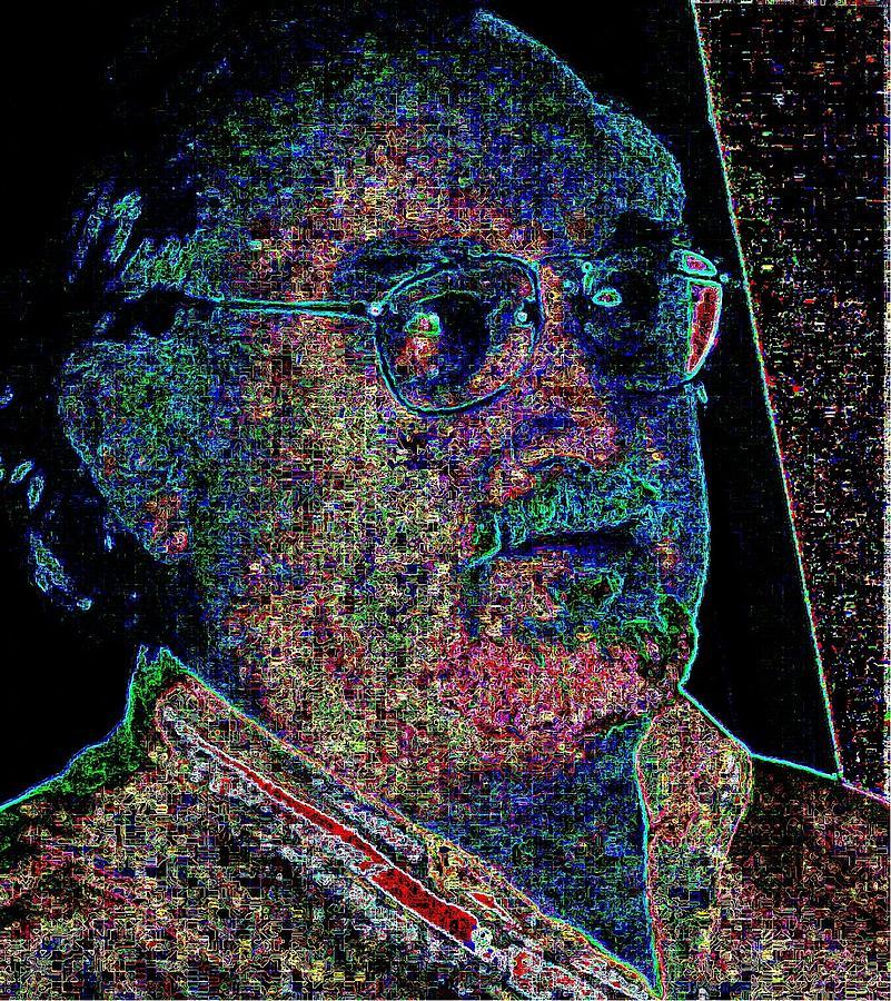 Self-portrait Digital Art - Rod by Rod Saavedra-Ferrere