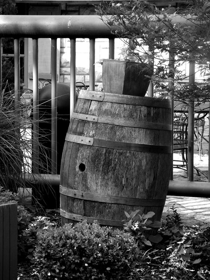 Black Photograph - Roll Out The Barrel by Shelley Blair