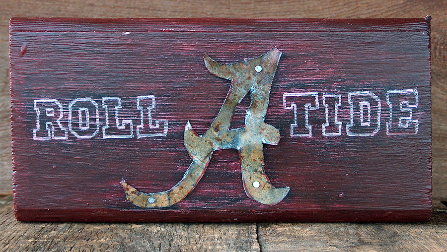 Roll Tide Mixed Media - Roll Tide - Medium by Racquel Morgan