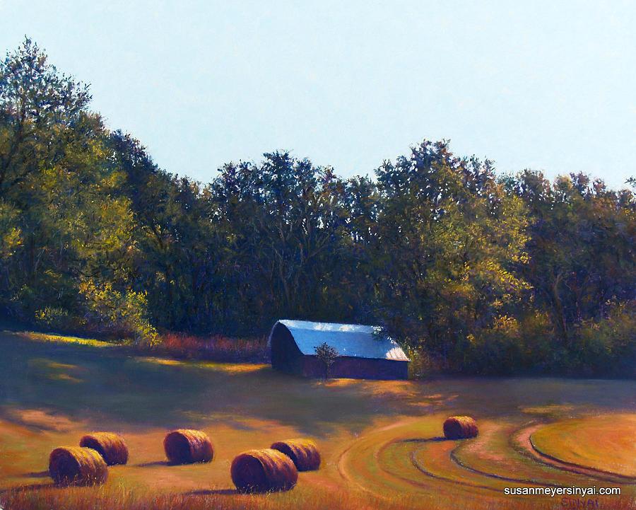 Landscape Pastel - Rolled Gold by Susan Sinyai